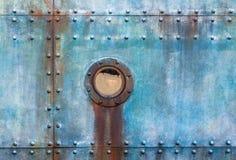 Плиты иллюминатора кабины корабля заклепанные сталью Стоковые Изображения