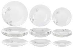 Плиты на белой предпосылке Стоковая Фотография RF