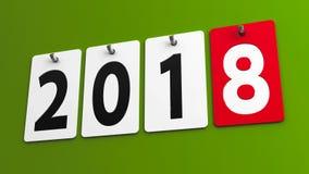 Плиты 2018 на зеленой стене Стоковые Изображения RF