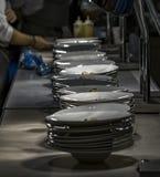 Плиты основного блюда Стоковые Изображения