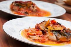 Плиты рыб стоковое фото rf
