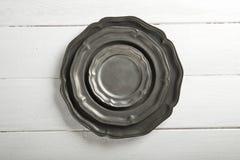 Плиты текстуры олова на таблице Стоковые Фото