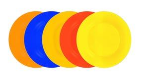 Плиты цвета изолированные на белизне Стоковые Изображения
