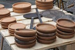 Плиты для варить testaroli Стоковая Фотография