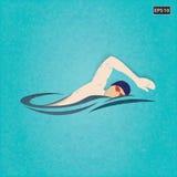 Пловец, иллюстрация вектора Стоковые Фотографии RF
