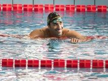 Пловец Филиппо Magnini во время седьмой конкуренции заплывания Милана di citta Trofeo Стоковое фото RF