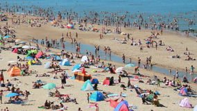 Пловцы на пляже в Голландии акции видеоматериалы