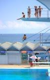 Пловцы подростка доск подныривания взморья Стоковая Фотография RF