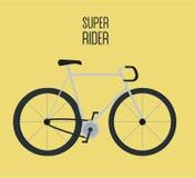 Плоская иллюстрация велосипеда города Стоковые Фото