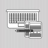 Плоская иллюстрация о дизайне технологии Стоковые Фотографии RF