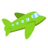 Плоская иллюстрация самолета, взгляд воздушного судна летания Стоковое Изображение RF