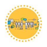 Плоская концепция значка партнерства дела Стоковое Изображение RF