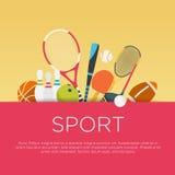 Плоская концепция спорта дизайна Стоковые Фото