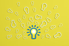 Плоская концепция электрической лампочки идеи стиля Стоковое Изображение