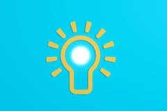 Плоская концепция электрической лампочки идеи стиля Стоковые Изображения RF