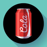 Плоская кола может кола иллюстрации вектора чонсервной банкы соды может vector значок Стоковые Фотографии RF
