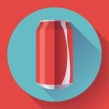 Плоская кола может кола иллюстрации вектора чонсервной банкы соды может vector значок Стоковое Фото