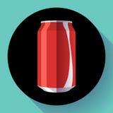 Плоская кола может кола иллюстрации вектора чонсервной банкы соды может vector значок Стоковые Фото