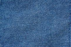 Плоская классическая винтажная текстура голубых джинсов Стоковая Фотография RF