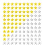 Плоская оценка звезды иллюстрация штока