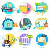 Плоская пиктограмма стиля для пользовательского интерфейса Стоковая Фотография