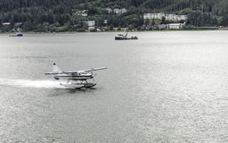 Плоская посадка на воде Стоковые Фото