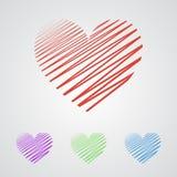Плоская предпосылка applique сердца вектор Стоковые Фото