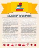 Плоская предпосылка Infographic дела Стоковое Изображение