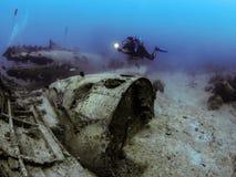 Плоская развалина - Roatan, Гондурас Стоковое Изображение RF