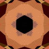 Плоская этническая безшовная картина Стоковое Изображение RF