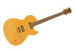 Плоская электрическая гитара Стоковое Изображение RF