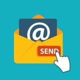 Плоская электронная почта идеи проекта посылает вектор значка Стоковая Фотография RF