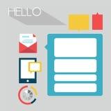 Плоская infographic концепция пользовательского интерфейса вебсайта - иллюстрация иллюстрация вектора