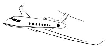 Плоские абстрактные линии логотип вектора также вектор иллюстрации притяжки corel Стоковые Фотографии RF