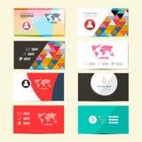 Плоские визитные карточки бумаги вектора дизайна бесплатная иллюстрация