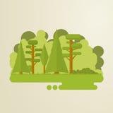 Плоские деревья Стоковые Фотографии RF