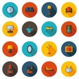 Плоские живущие значки Стоковое Изображение