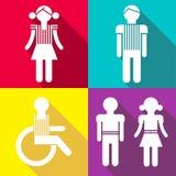 Плоские значки людей Стоковые Фото