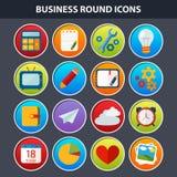 Плоские значки для сеты и передвижного App Стоковое Изображение