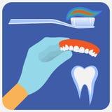 Плоские зубоврачебные аппаратуры бесплатная иллюстрация
