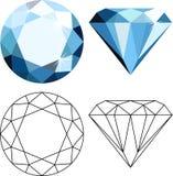 Плоские диаманты стиля Стоковое Изображение