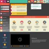 Плоские дизайн/шаблон вебсайта Стоковые Фотографии RF