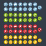 Плоские кнопки сети стоковые фотографии rf
