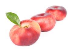 плоские персики Стоковые Фотографии RF