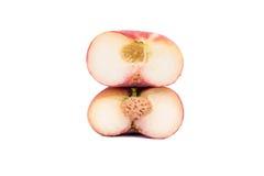 Плоские половины персика Стоковые Изображения