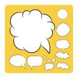 Плоские пузыри установленные на желтый цвет Иллюстрация штока