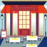 Плоские рестораны и магазины дизайна Стоковая Фотография
