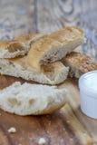 Плоские ручки хлеба Стоковые Изображения RF