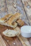 Плоские ручки хлеба Стоковые Фотографии RF
