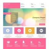 Плоские современные элементы веб-дизайна иллюстрация штока